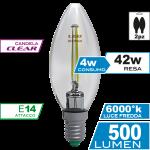 Candela Filamento Clear 4W E14 Luce Fredda Bipack Simboli