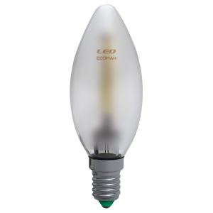 Candela Filamento Satin 4W E14 Luce Calda