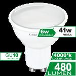 Dicroica 6W GU10 Luce Naturale CRT Simboli