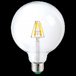 Globo 125 Filamento Clear 10W E27 Luce Calda