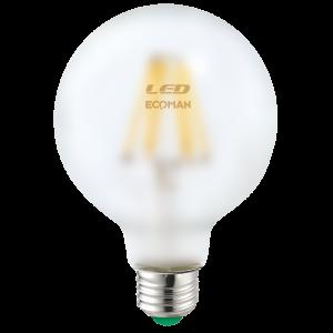 Globo 95 Filamento Satin 10W E27 Luce Calda