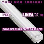 Plafoniera T8 Linea 120 X2 Simboli