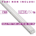 Plafoniera T8 Linea 150 X2 Simboli