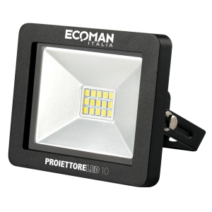 Proiettore Mini Slim 10W Luce Naturale Black