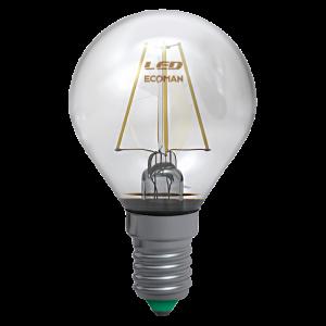 Sfera Filamento Clear 2W E14 Luce Calda