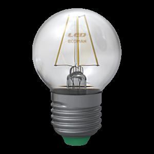 Sfera Filamento Clear 4W E27 Luce Calda