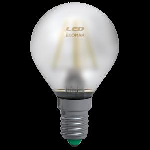 Sfera Filamento Satin 4W E14 Luce Calda
