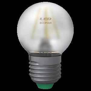 Sfera Filamento Satin 4W E27 Luce Calda