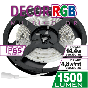 Striscia 14,4W 3mt RGB Decor Simboli
