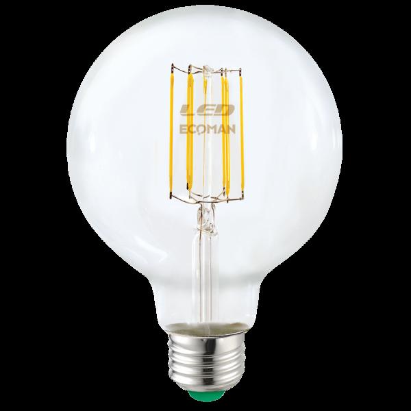 Globo 95 Filamento Clear 12W E27 Luce Naturale