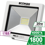 ProLed Mini Slim 20W Luce Naturale White Simboli