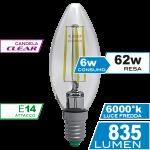 Candela Filamento Clear 6W E14 Luce Fredda Simboli