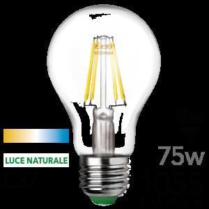 Goccia Filamento Clear 8W E27 Tripack Luce Naturale Simboli