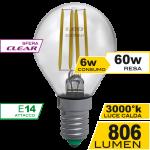 Sfera Filamento Clear 6W E14 Luce Calda Simboli